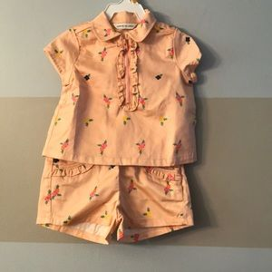 3T Janie and Jack shirt and shorts outfit